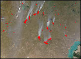 Burn Scars and Late-Season Fires in Kazakhstan