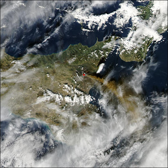 Eruption of Sicily's Mt. Etna