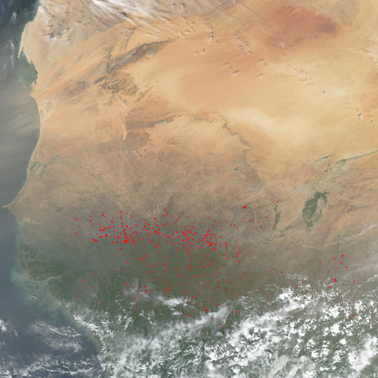 Fires in West Africa