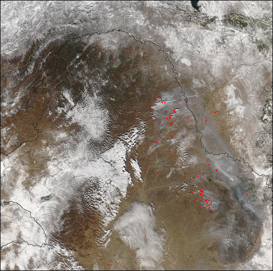 Late-Season Fires near Amur River