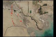 Fires and Gas Flares in Persian Gulf Countries