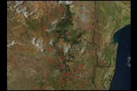 Scattered Fires Across Eastern South Africa