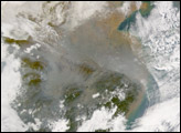 Pollution over China - selected child image