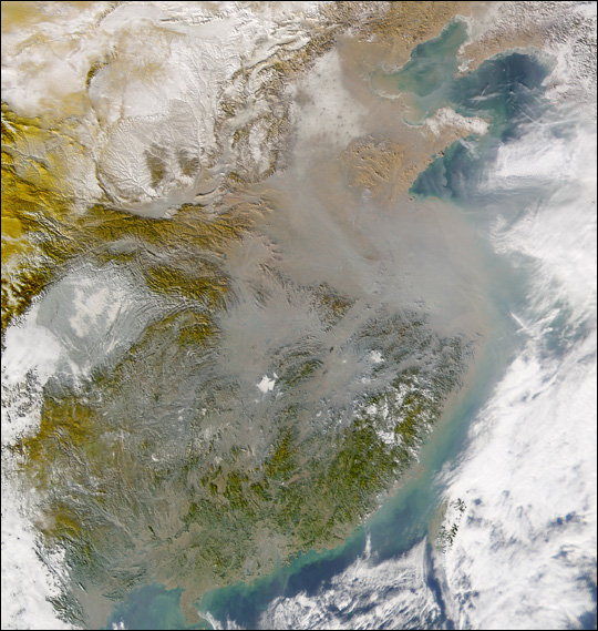 Pollution over China - related image preview