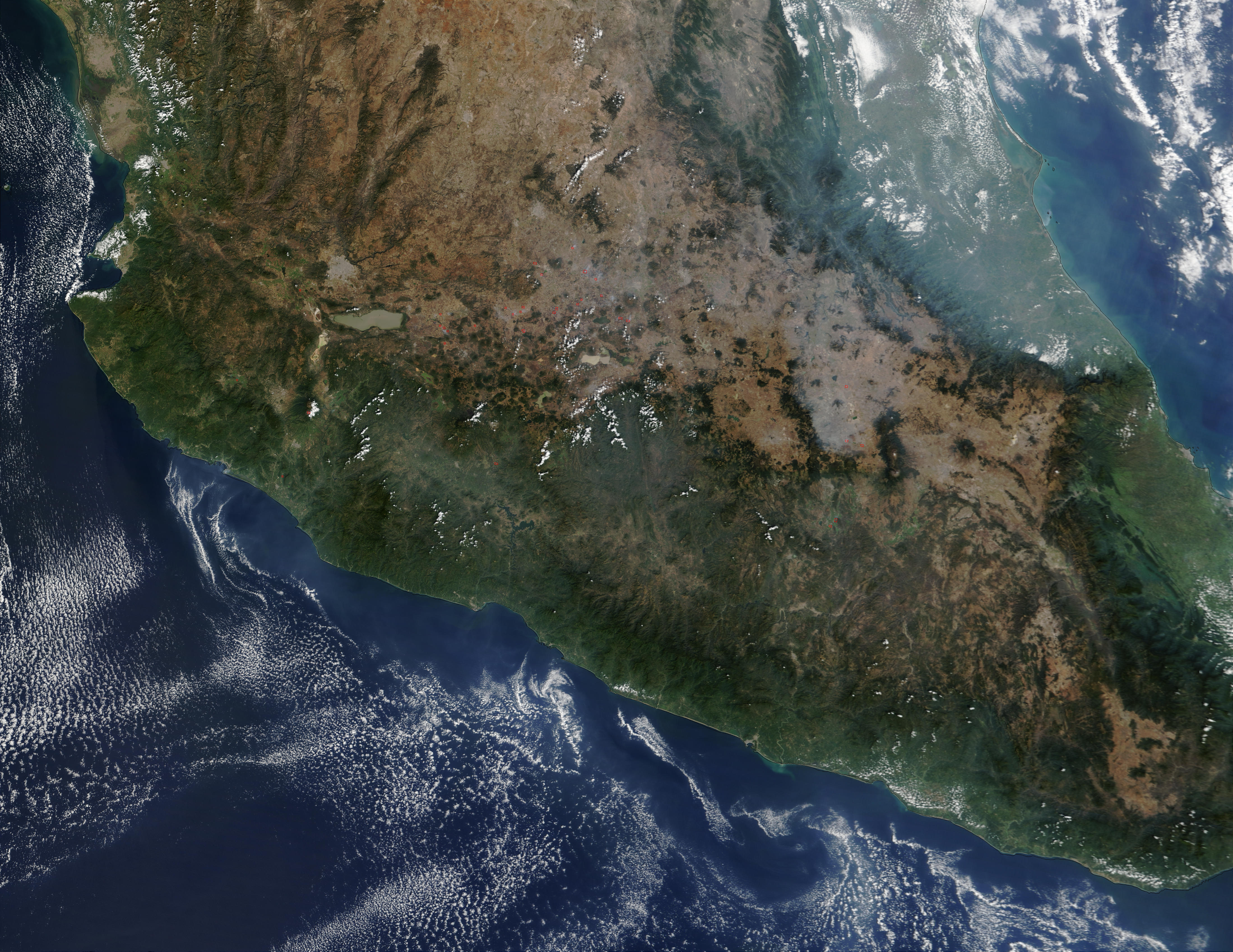 Fires In Central Mexico