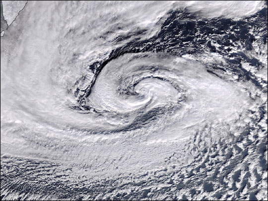 Low-Pressure System over Northwestern Pacific