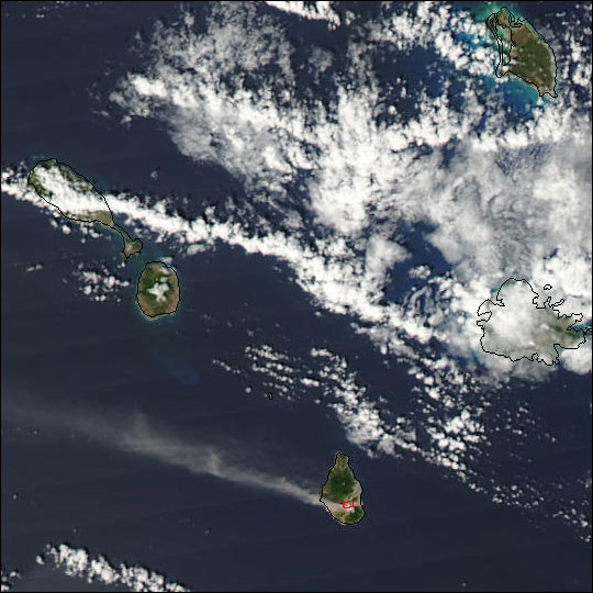 Eruption of Soufriere Hills, Montserrat