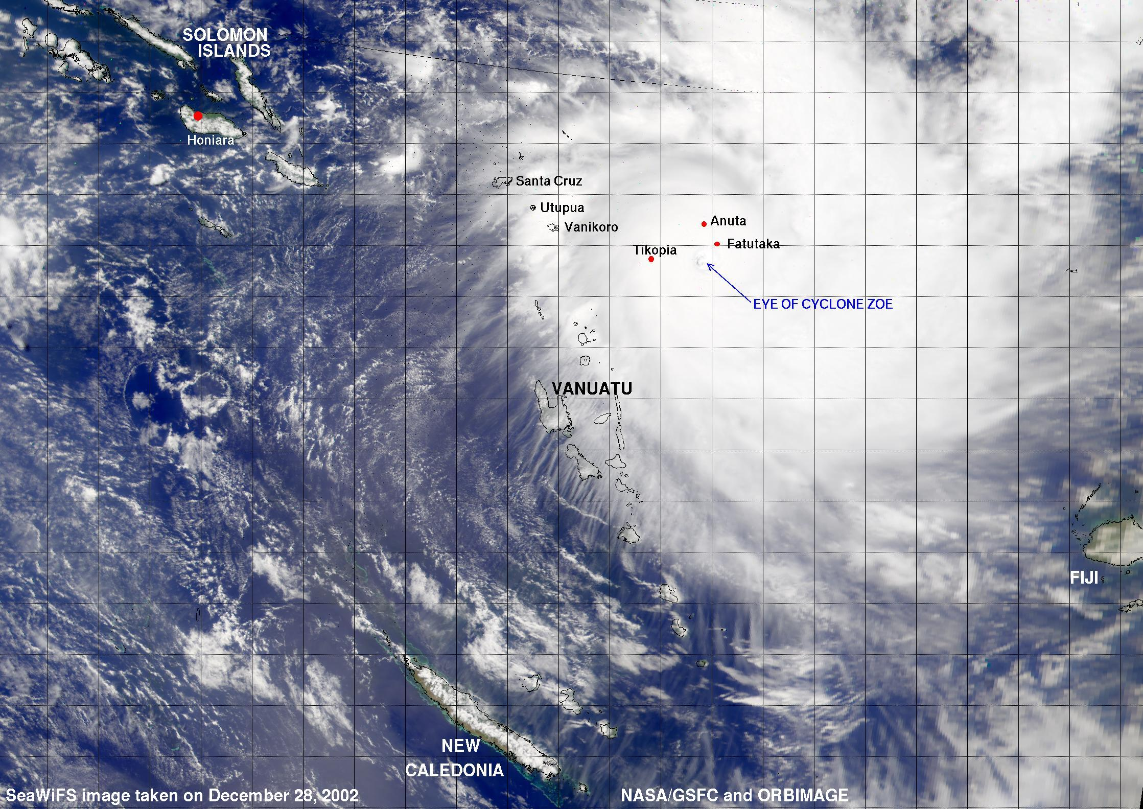 Tropical Cyclone Zoe - related image preview