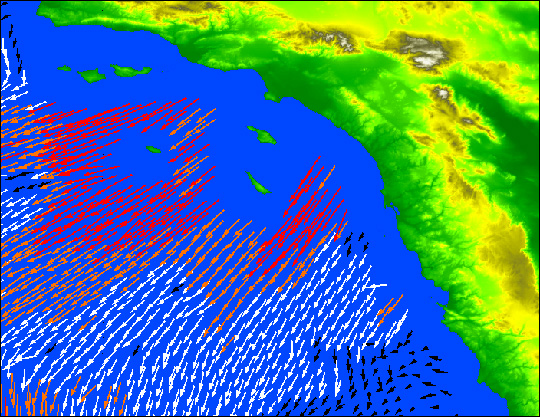 Santa Ana Wind Event Over California