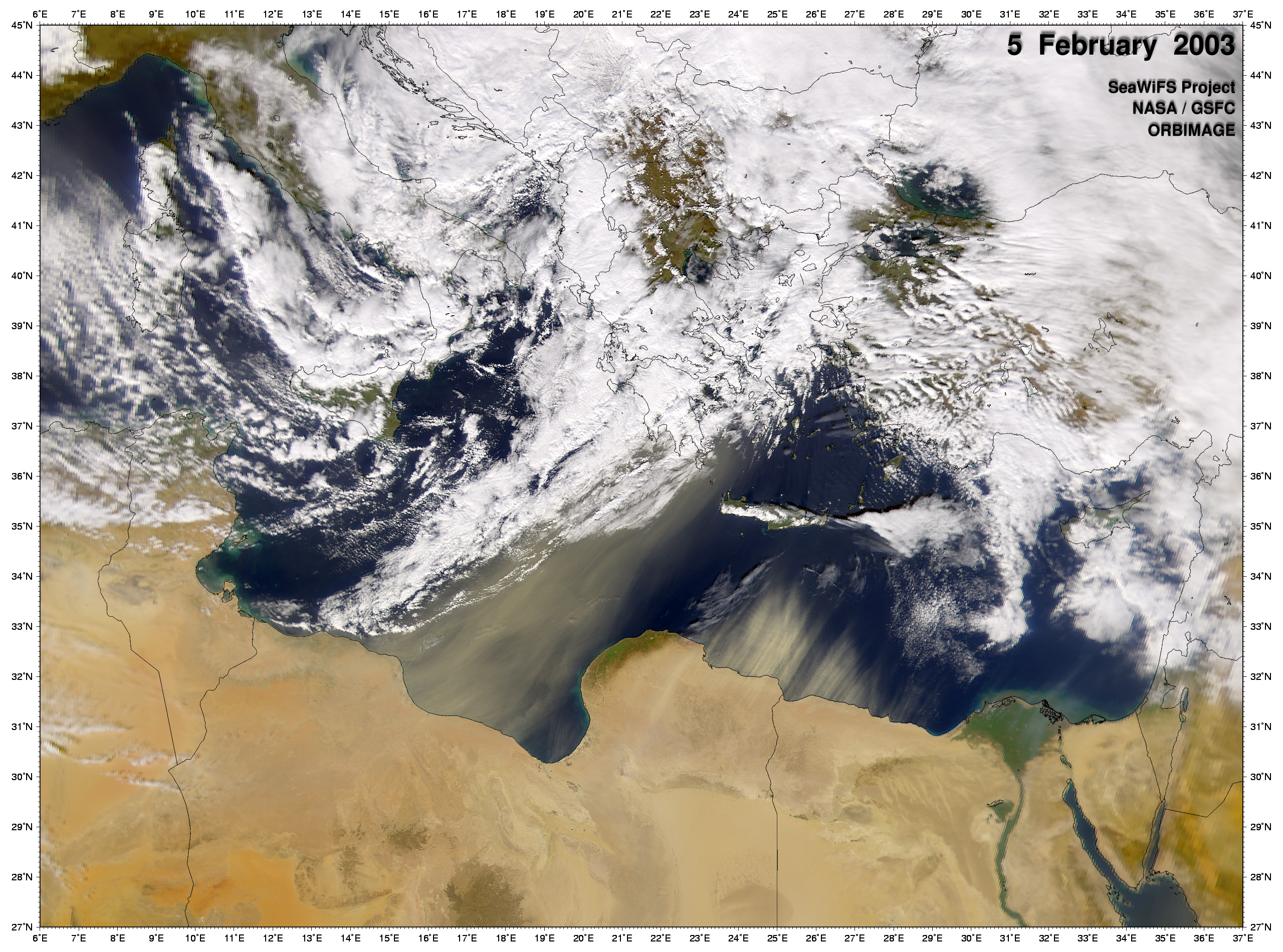 Dust Storm off Egypt - related image preview