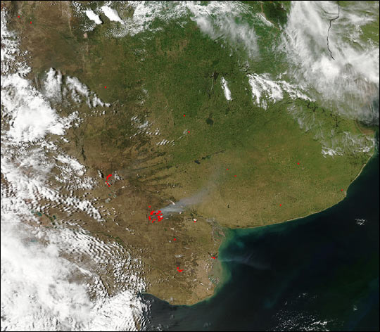Fires in the Pampas and Southern Argentina