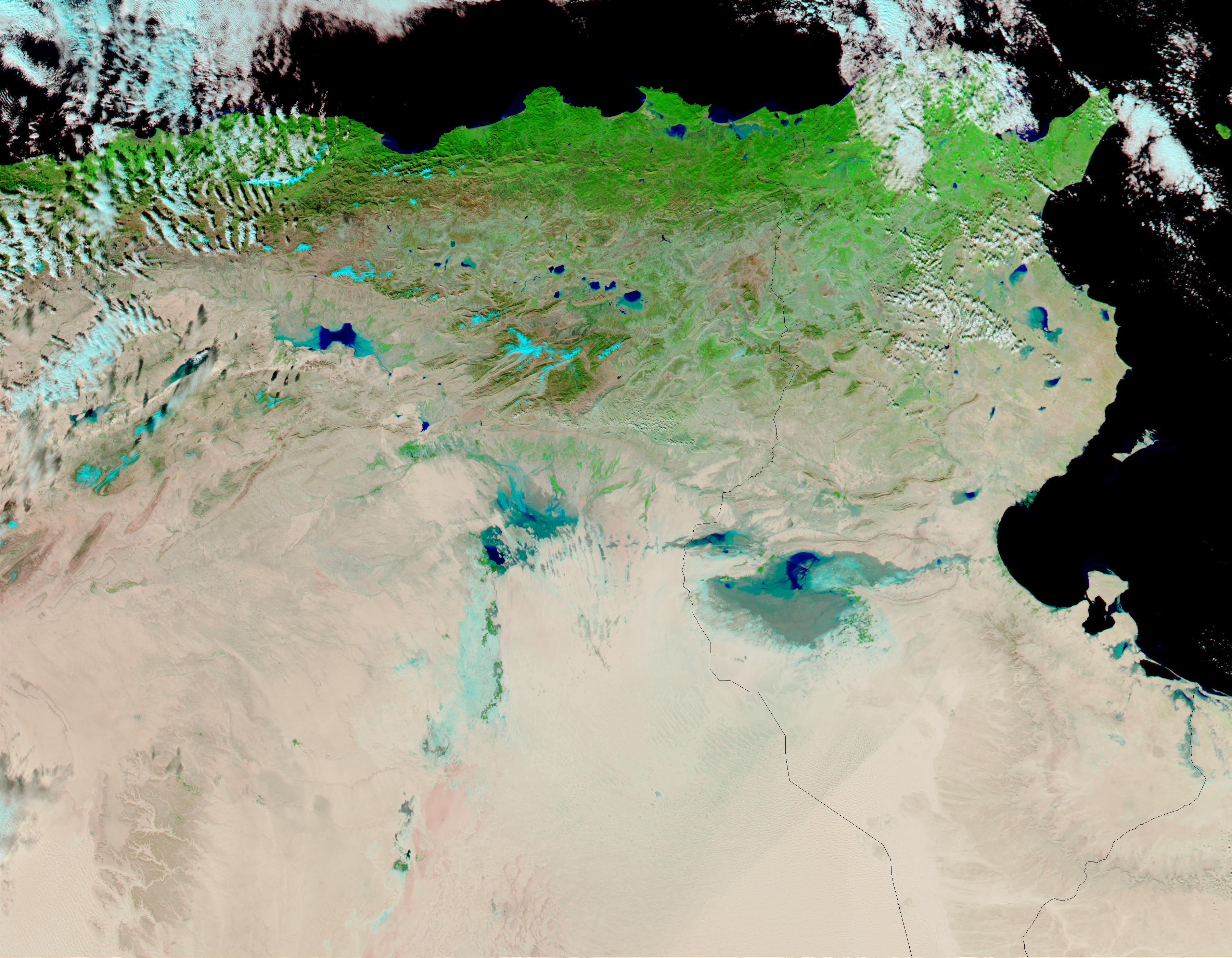 Flooding In Tunisia Natural Hazards - Tunisia earth map