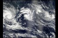 Multiple Cyclones in the Indian Ocean