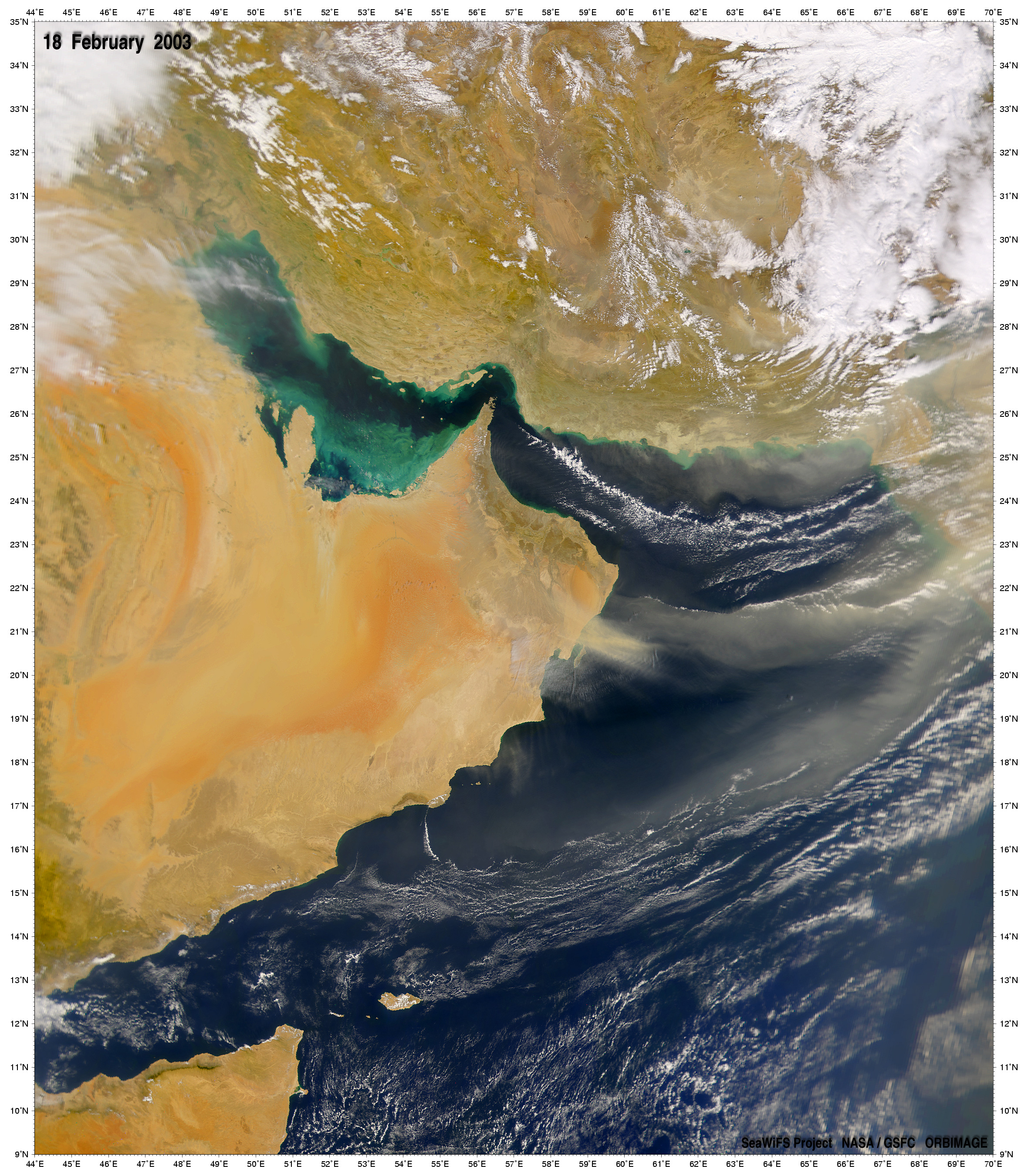 Dust Storm over Gulf of Oman - related image preview