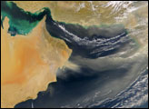 Dust Storm over Gulf of Oman