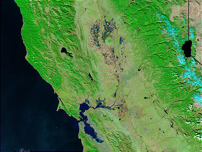 Northern California (before flooding) (false color) - related image preview
