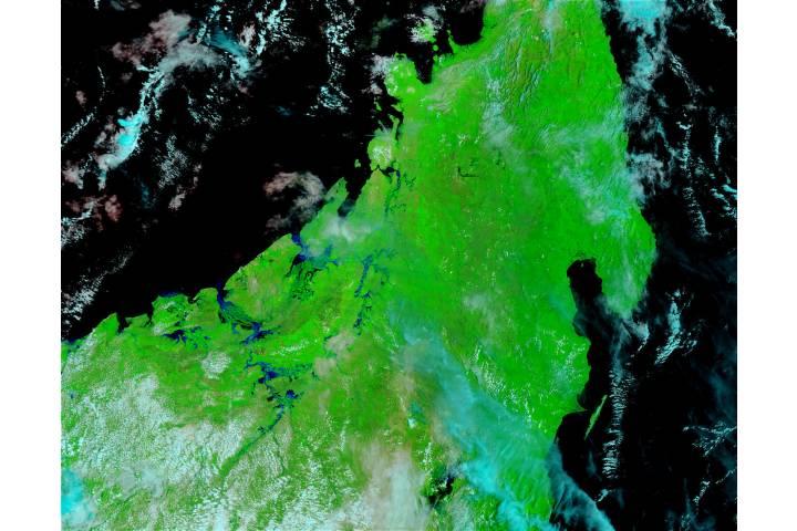 Floods in Northern Madagascar (false color) - selected image