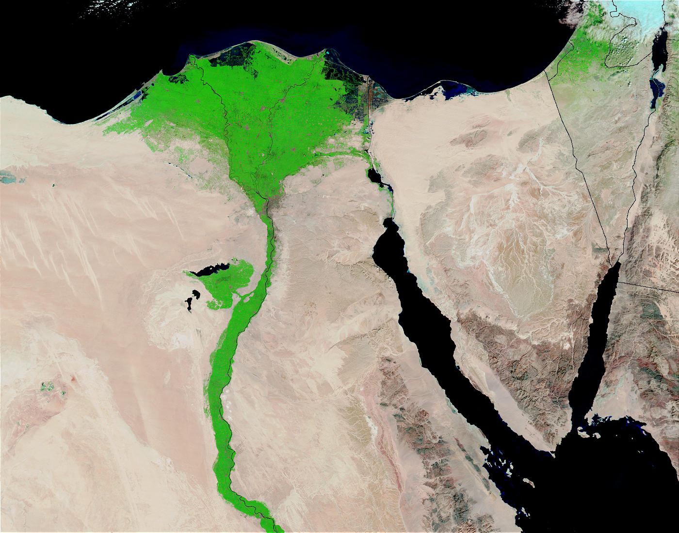Egypt (false color) - related image preview