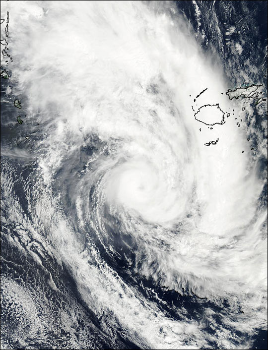 Tropical Cyclone Eseta off Fiji