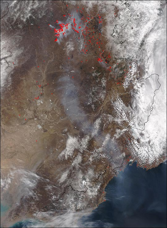 Early Season Fires in Northern China