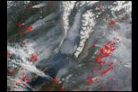 Fires Surrounding Lake Baikal