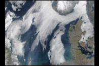 Sea Fog Around Scandinavia