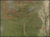 Fires in Central U.S.