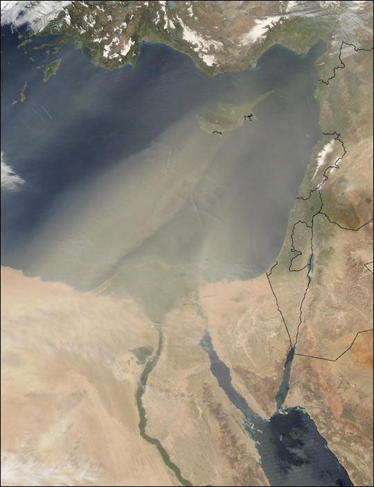 Dust Over the Eastern Mediterranean
