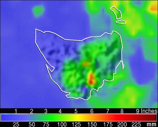 March Rainfall in Tasmania Sets Record