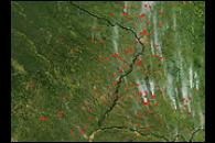 Fires in Argentina and Paraguay
