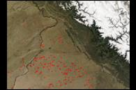 Fires in Pakistan and India