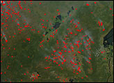 Biomass Burning in Central and Southern Africa - selected image