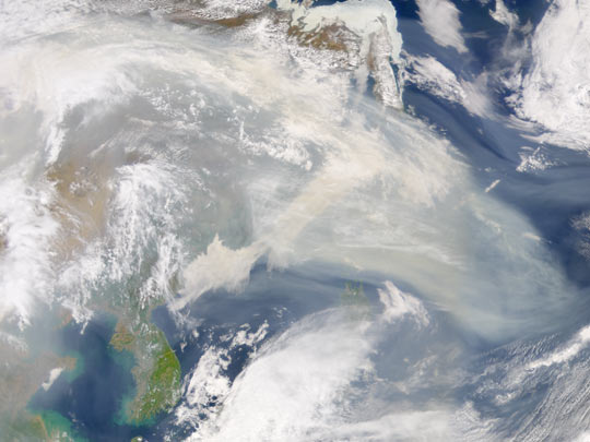 Smoke from Fires in Eastern Russia