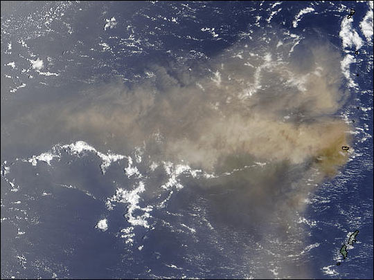First Recorded Eruption of Anatahan Volcano