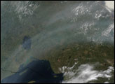 Smoke from Asian Fires over Canada
