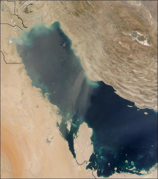 Dust Storm over Persian Gulf