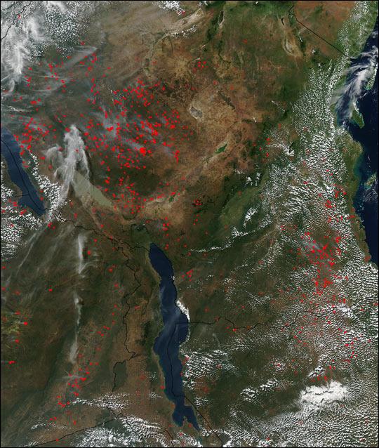 Fires Across Tanzania