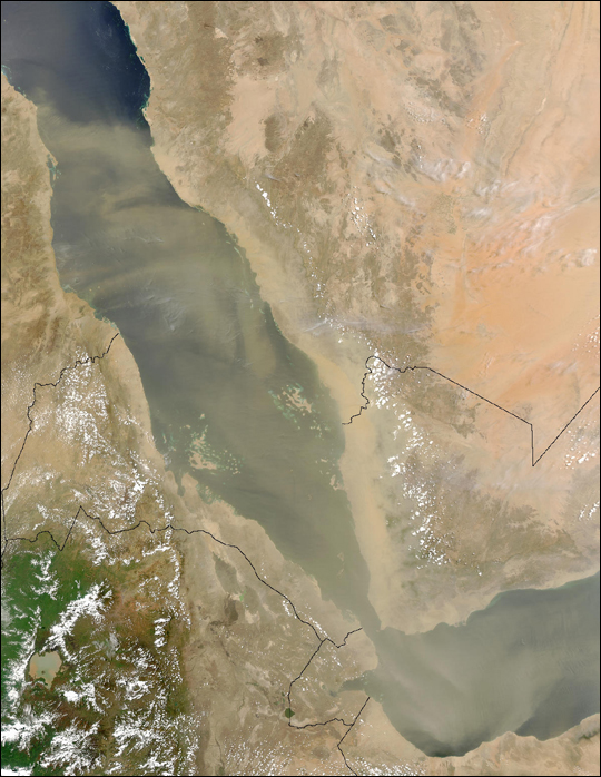 Dust Blowing over the Red Sea