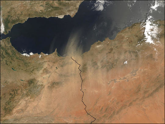 Dust Storm over Morocco and Algeria