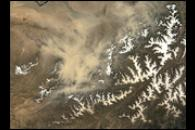 Dust Storm in Northern Afghanistan