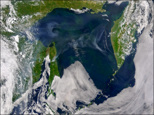 Smoke Across Sea of Okhotsk - related image preview