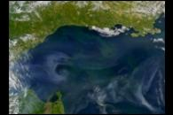 Smoke Across Sea of Okhotsk