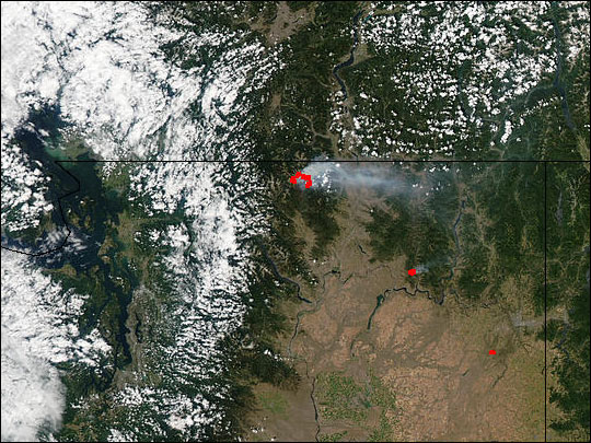 Fawn Peak Complex Fire in Washington