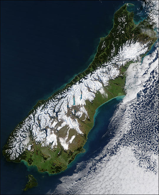 Blizzard in New Zealand