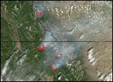 Fires in Montana and Alberta