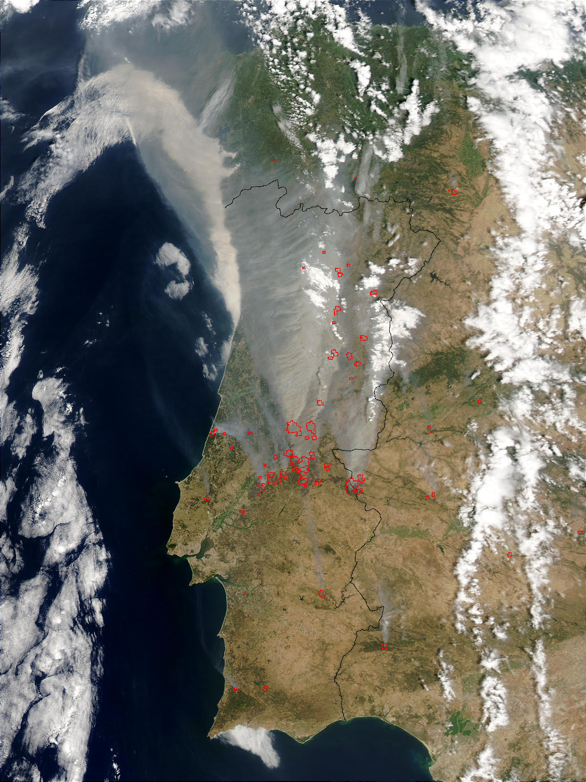 Forest Fires In Portugal Natural Hazards - Portugal map of fires
