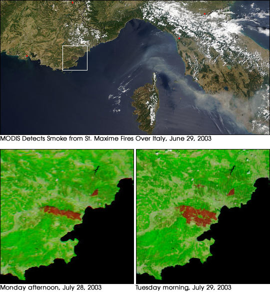 Forest Fire in Southern France