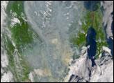 Smoke over Eastern Russia - selected image