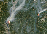 Fires in Western Canada