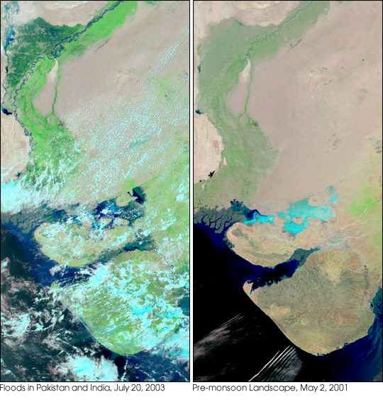 Floods in Pakistan and and India